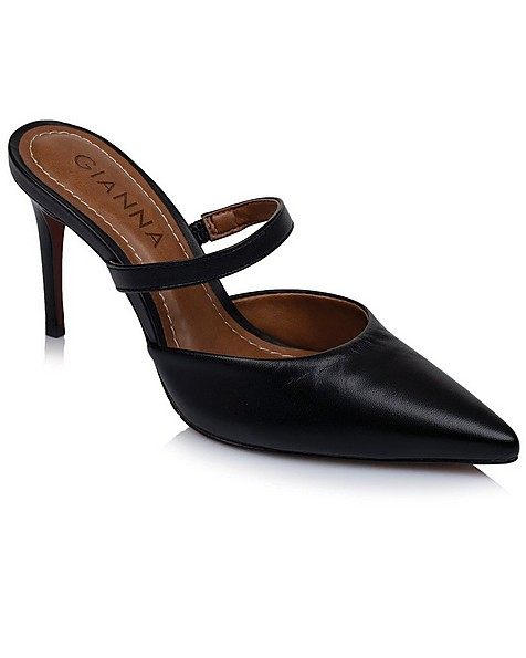 GIANNA Ladies Strappy Mule -  black-black