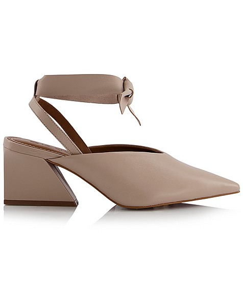 GIANNA Ladies Low Lace Up Heel -  nude