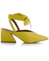 GIANNA Ladies Low Lace Up Heel -  yellow