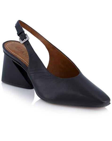 GIANNA Ladies Mid Slingback Heel -  black