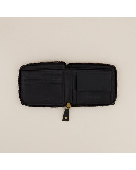Arthur Jack Men's Noah Zip-Around Wallet -  black