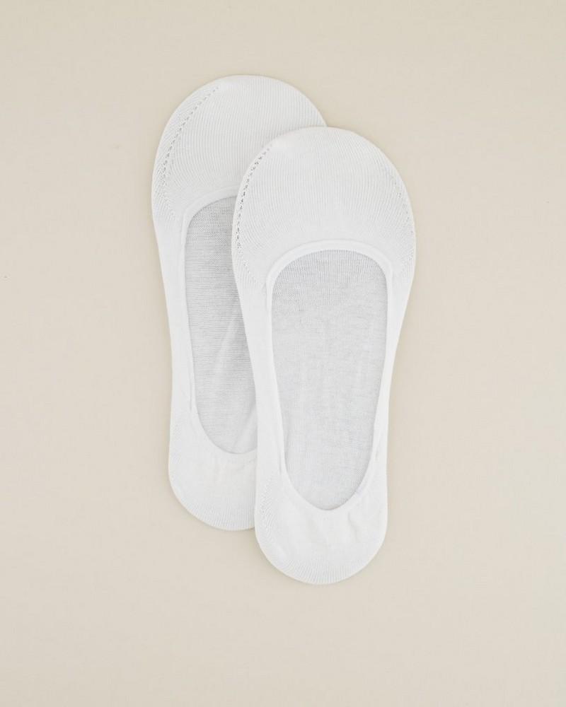 Tread and Miller Secret Sock Lds -  white